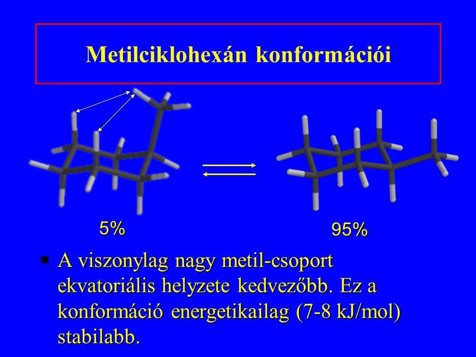 Metilciklohexán konformációi