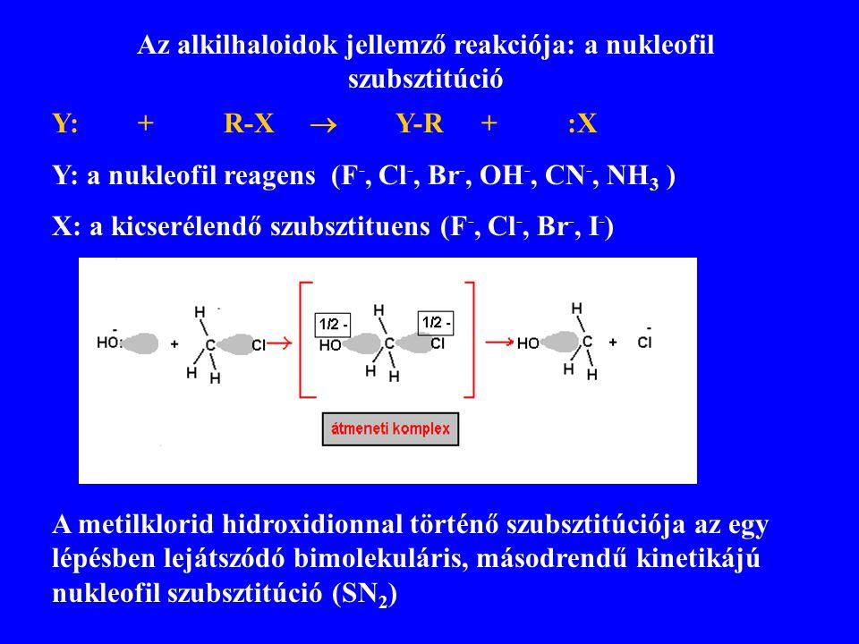 Az alkilhaloidok jellemző reakciója: a nukleofil szubsztitúció