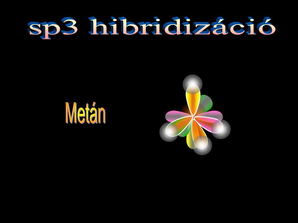 sp3 hibridizáció Metán