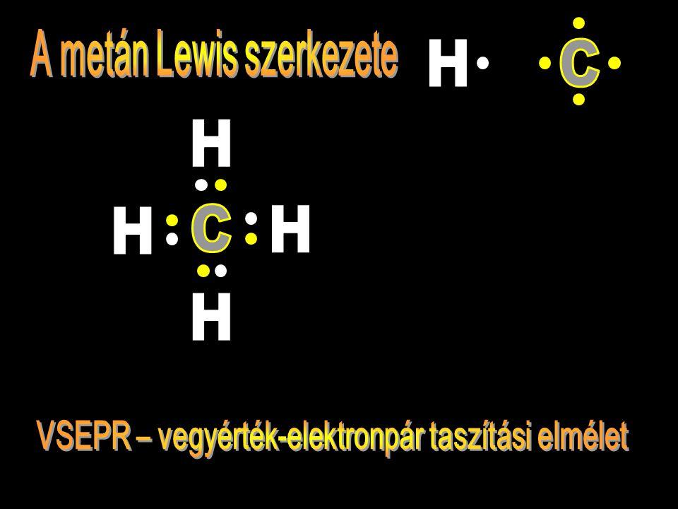A metán Lewis szerkezete