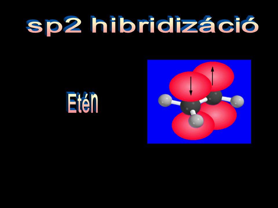 sp2 hibridizáció Etén