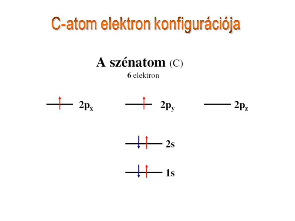 C-atom elektron konfigurációja