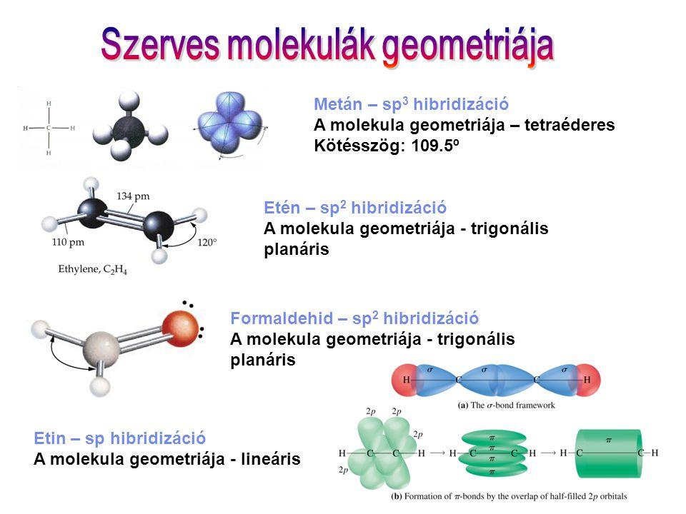 Szerves molekulák geometriája