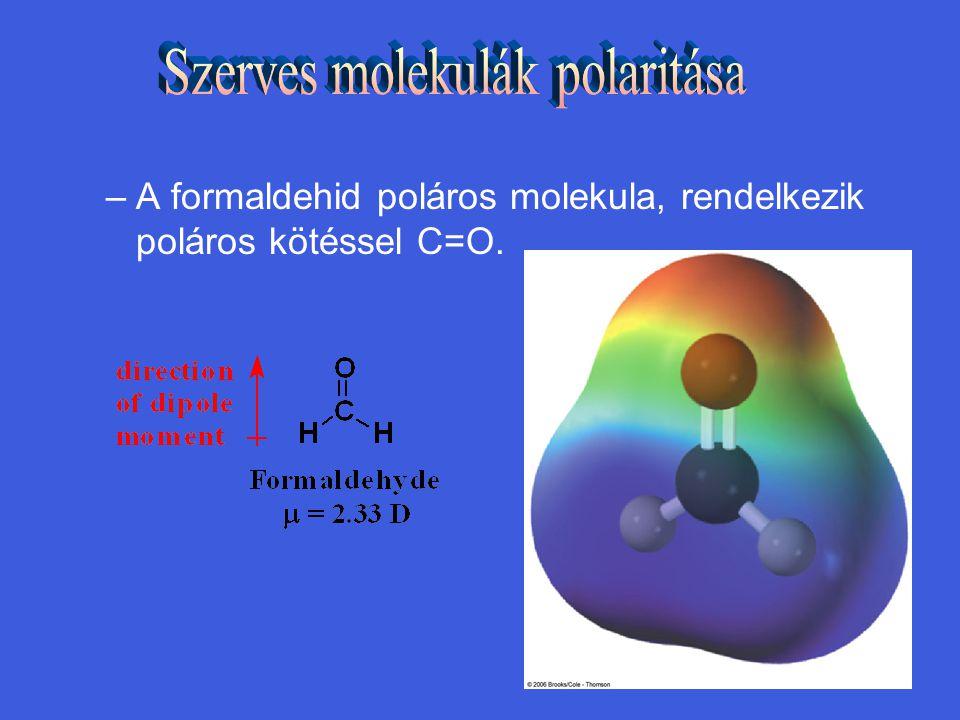 Szerves molekulák polaritása