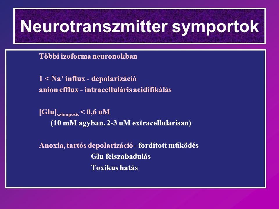 Neurotranszmitter symportok