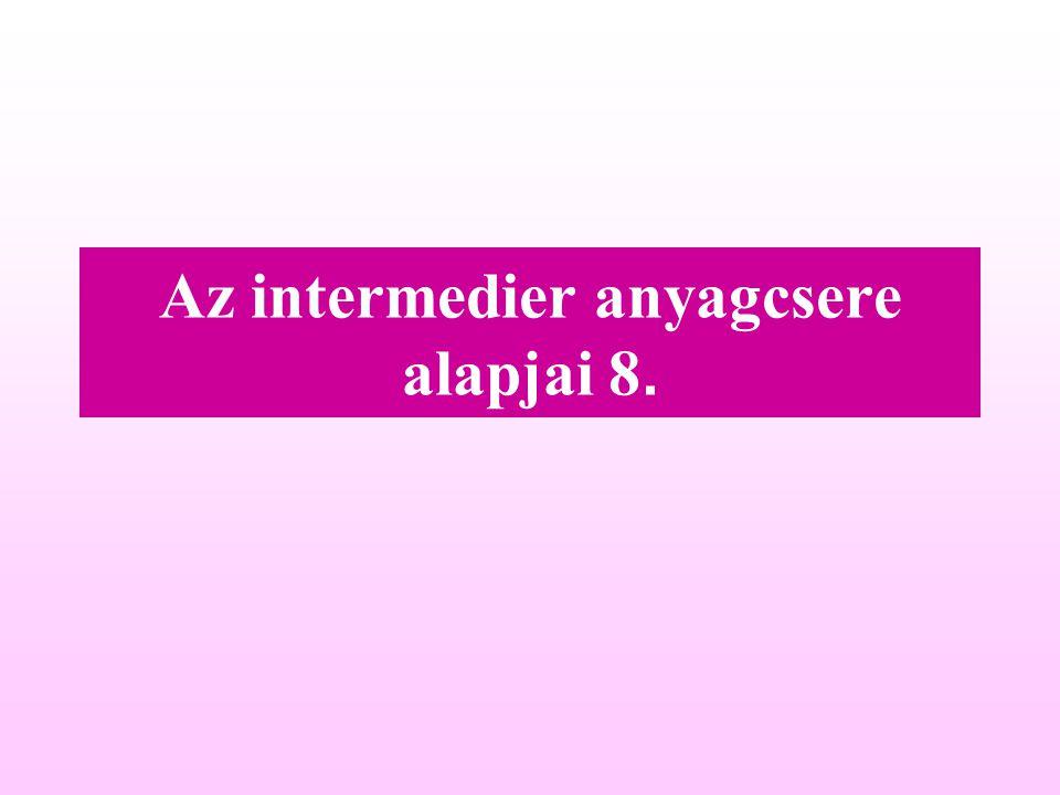 Az intermedier anyagcsere alapjai 8.