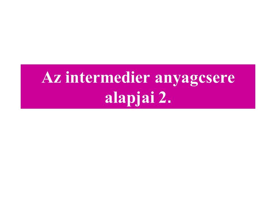 Az intermedier anyagcsere alapjai 2.