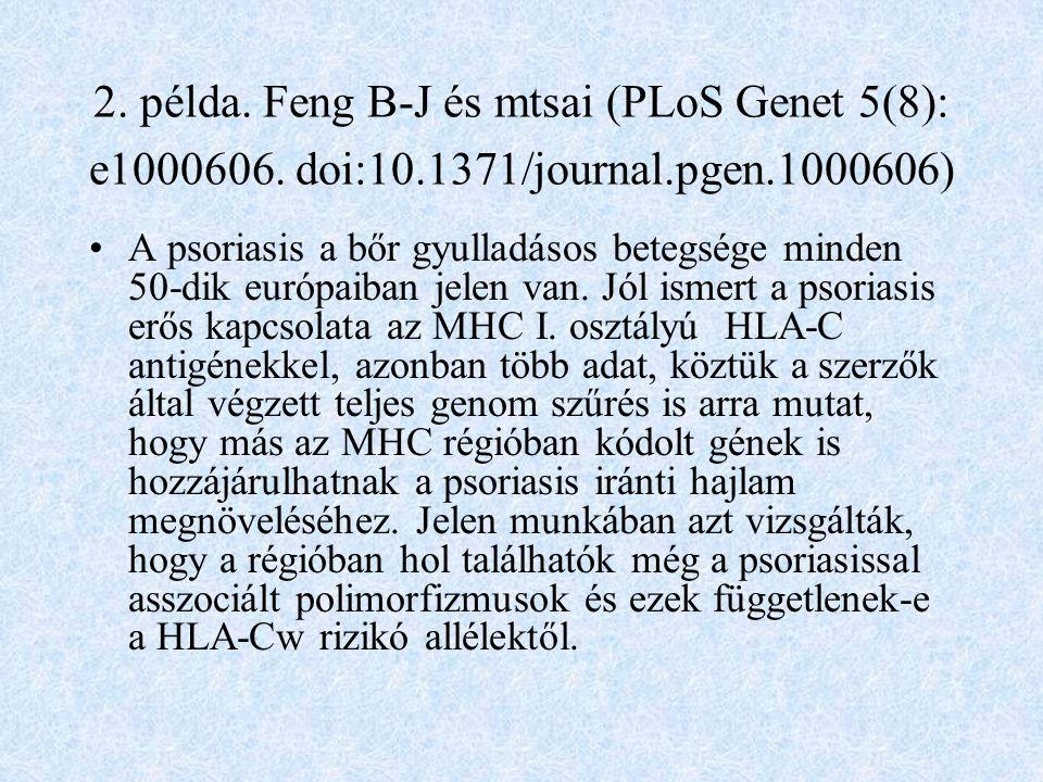 2. példa. Feng B-J és mtsai (PLoS Genet 5(8): e1000606. doi:10
