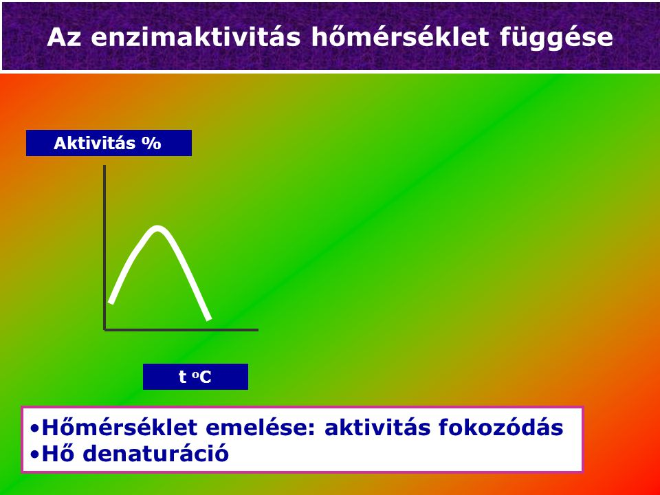 Az enzimaktivitás hőmérséklet függése
