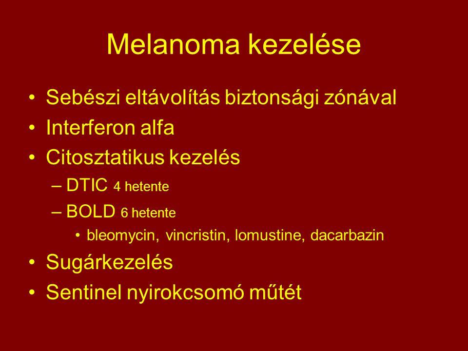 Melanoma kezelése Sebészi eltávolítás biztonsági zónával