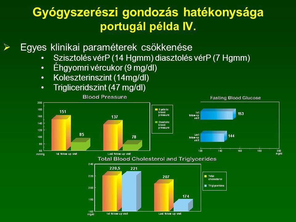 Gyógyszerészi gondozás hatékonysága portugál példa IV.
