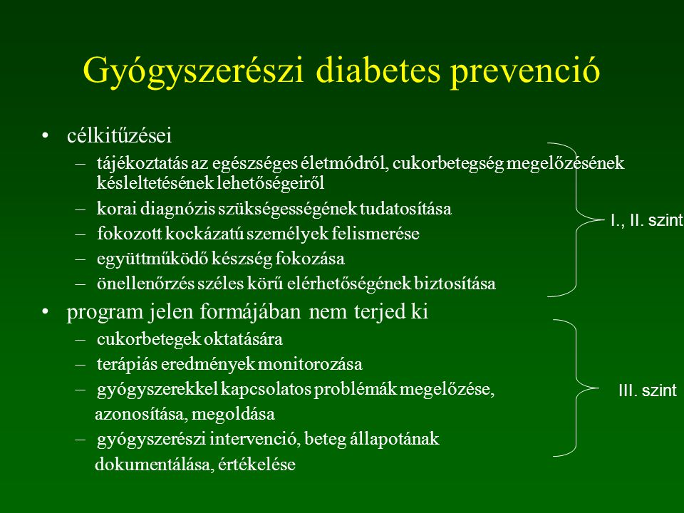 Gyógyszerészi diabetes prevenció