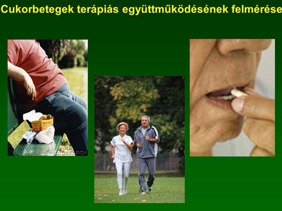 Cukorbetegek terápiás együttműködésének felmérése