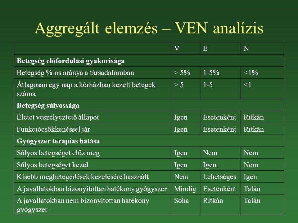 Aggregált elemzés – VEN analízis