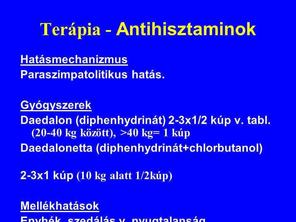 Terápia - Antihisztaminok
