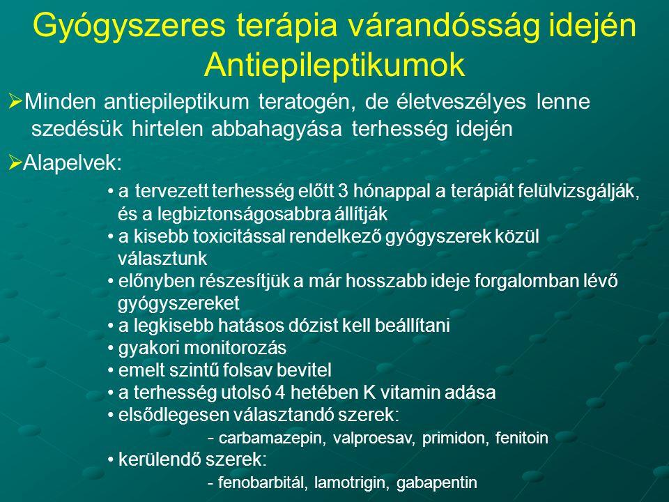 Gyógyszeres terápia várandósság idején Antiepileptikumok