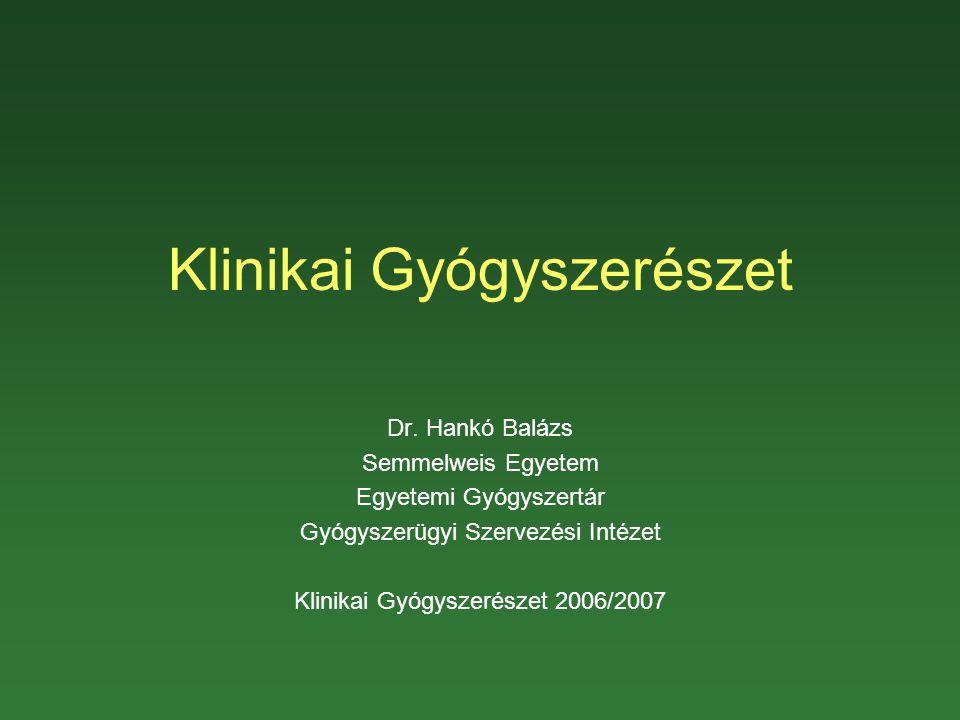 Klinikai Gyógyszerészet