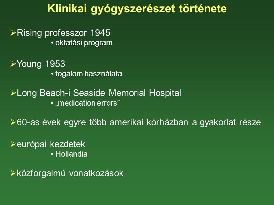 Klinikai gyógyszerészet története