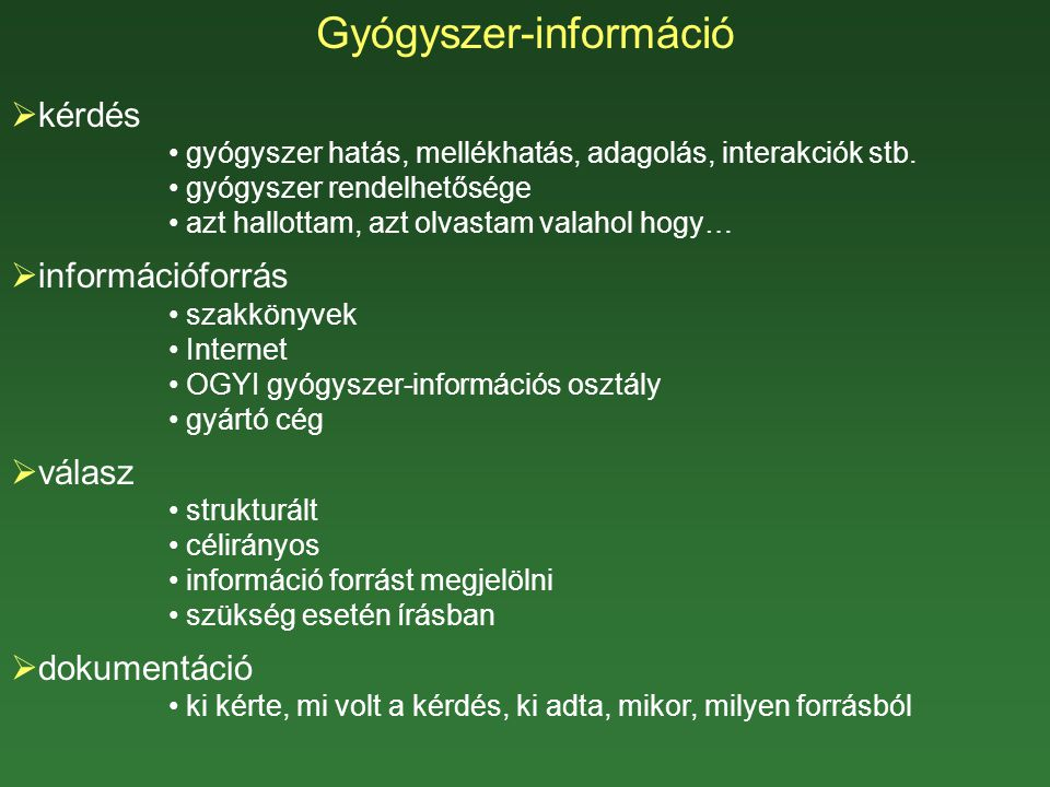 Gyógyszer-információ