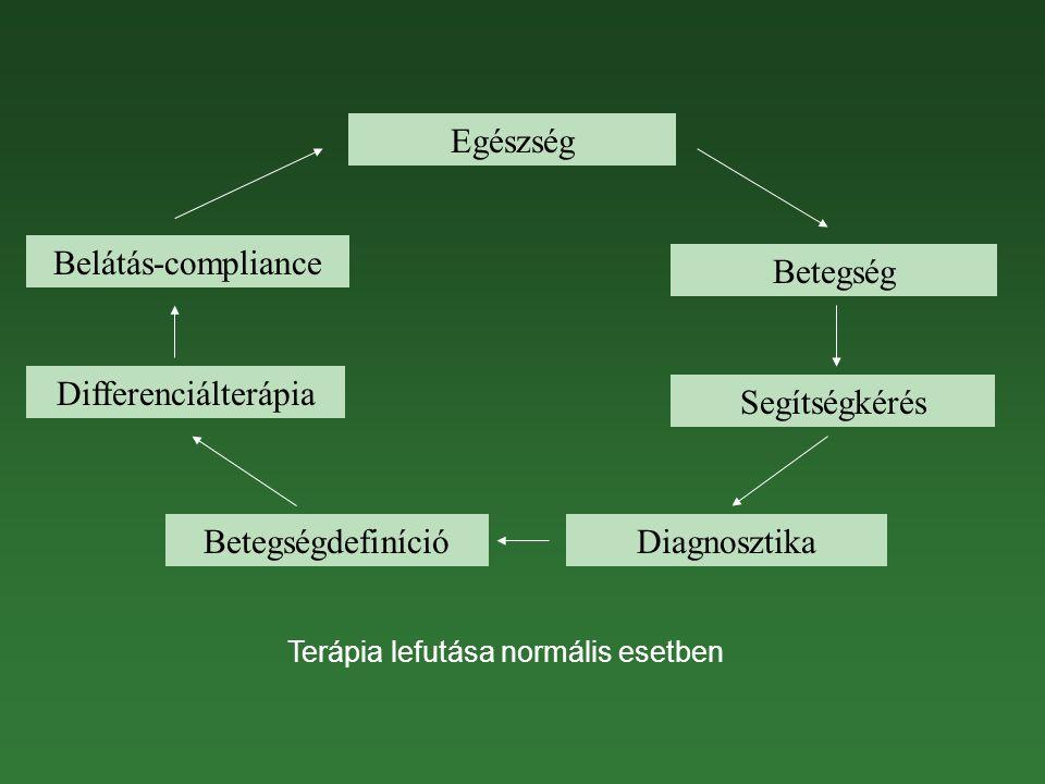 Terápia lefutása normális esetben