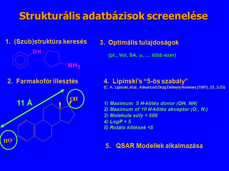 Strukturális adatbázisok screenelése