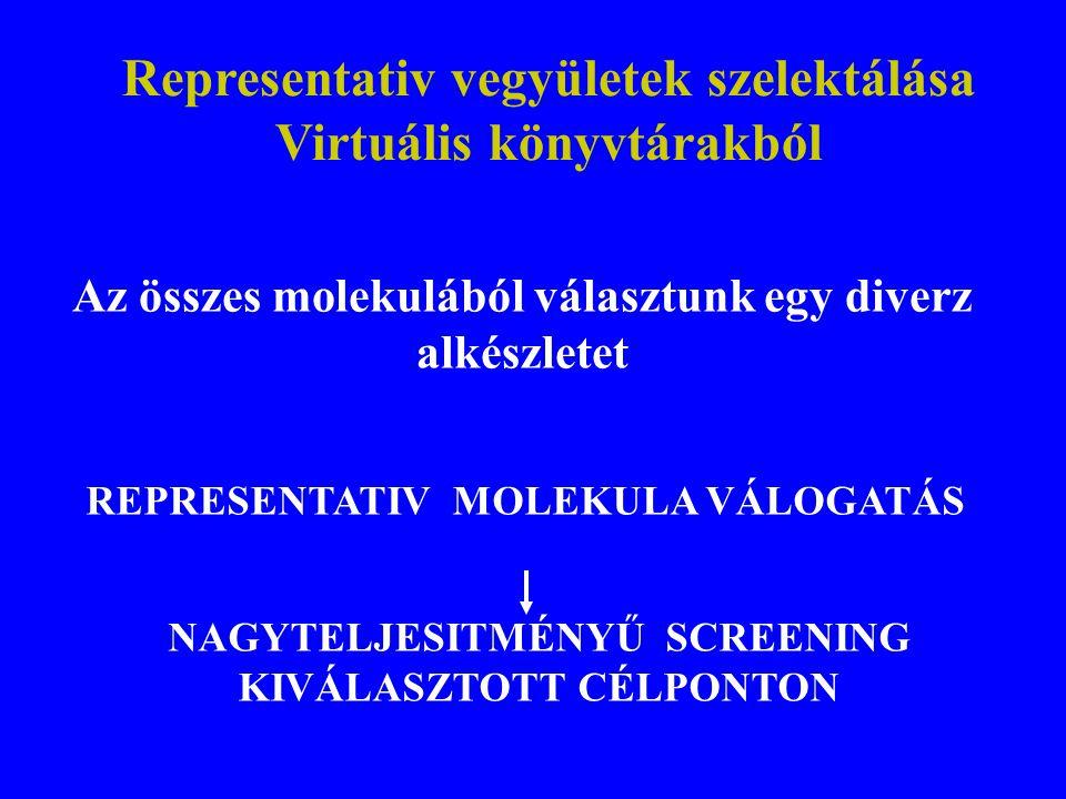 Representativ vegyületek szelektálása Virtuális könyvtárakból