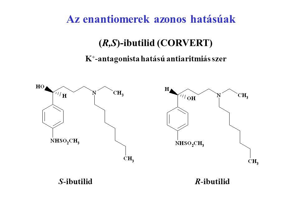 Az enantiomerek azonos hatásúak