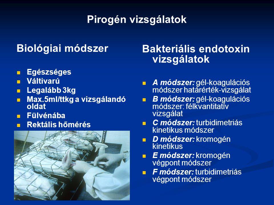 Bakteriális endotoxin vizsgálatok