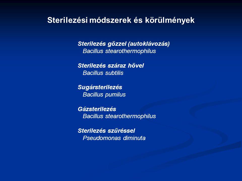 Sterilezési módszerek és körülmények