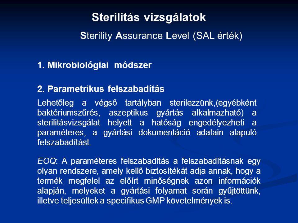 Sterilitás vizsgálatok