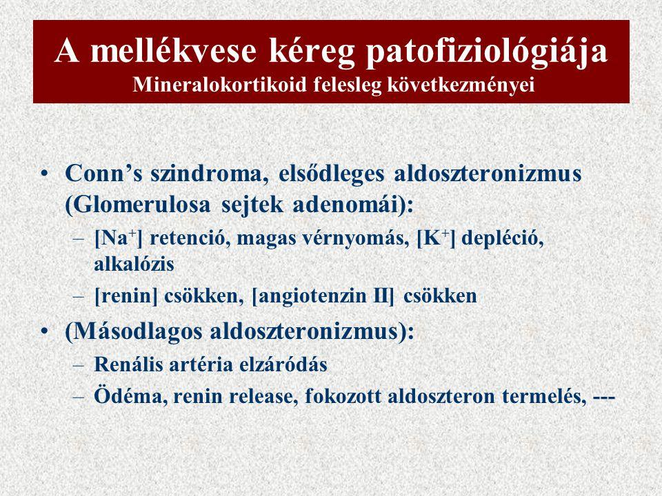 A mellékvese kéreg patofiziológiája Mineralokortikoid felesleg következményei