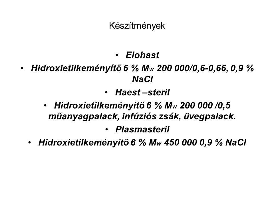 Hidroxietilkeményítő 6 % Mw 200 000/0,6-0,66, 0,9 % NaCl Haest –steril