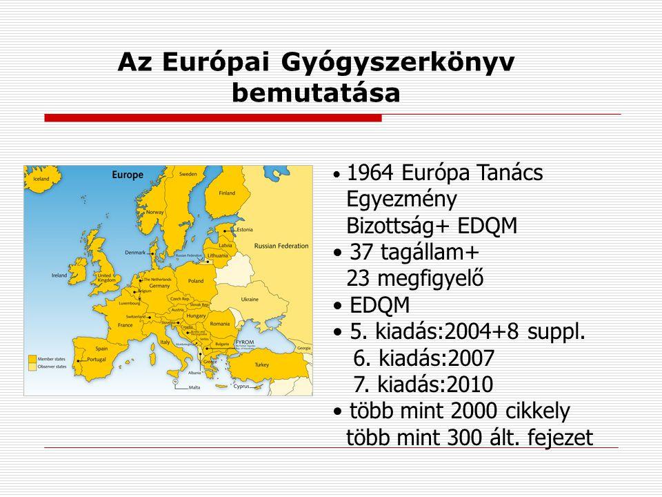 Az Európai Gyógyszerkönyv bemutatása