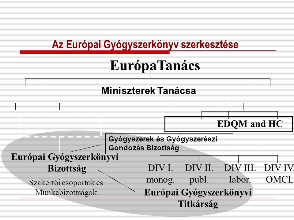 Az Európai Gyógyszerkönyv szerkesztése