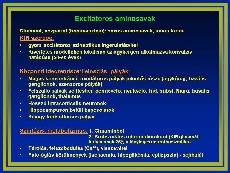 Excitátoros aminosavak