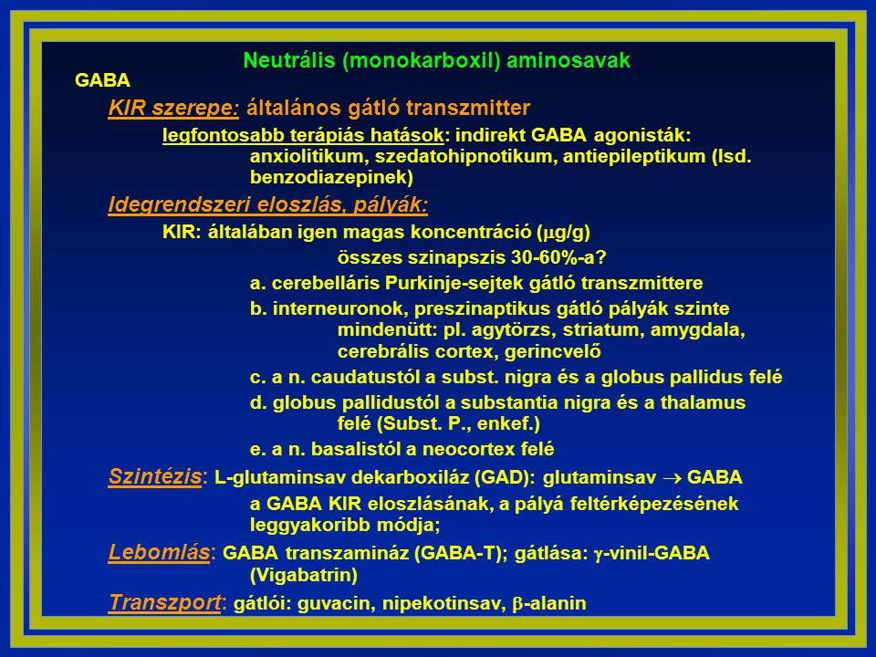 Neutrális (monokarboxil) aminosavak