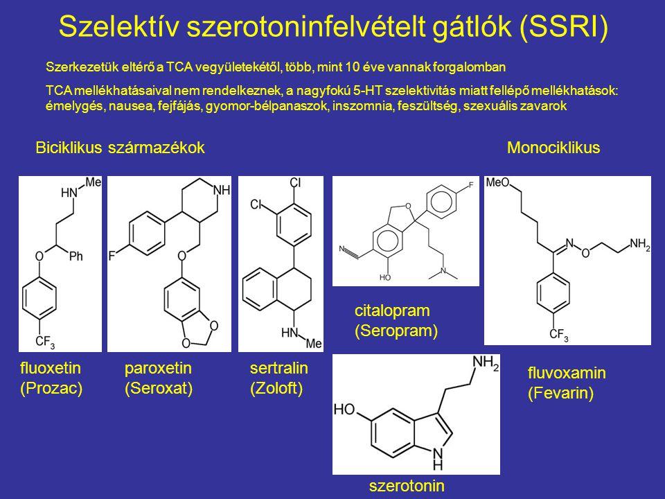 Szelektív szerotoninfelvételt gátlók (SSRI)