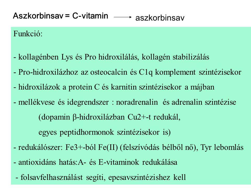 Aszkorbinsav = C-vitamin