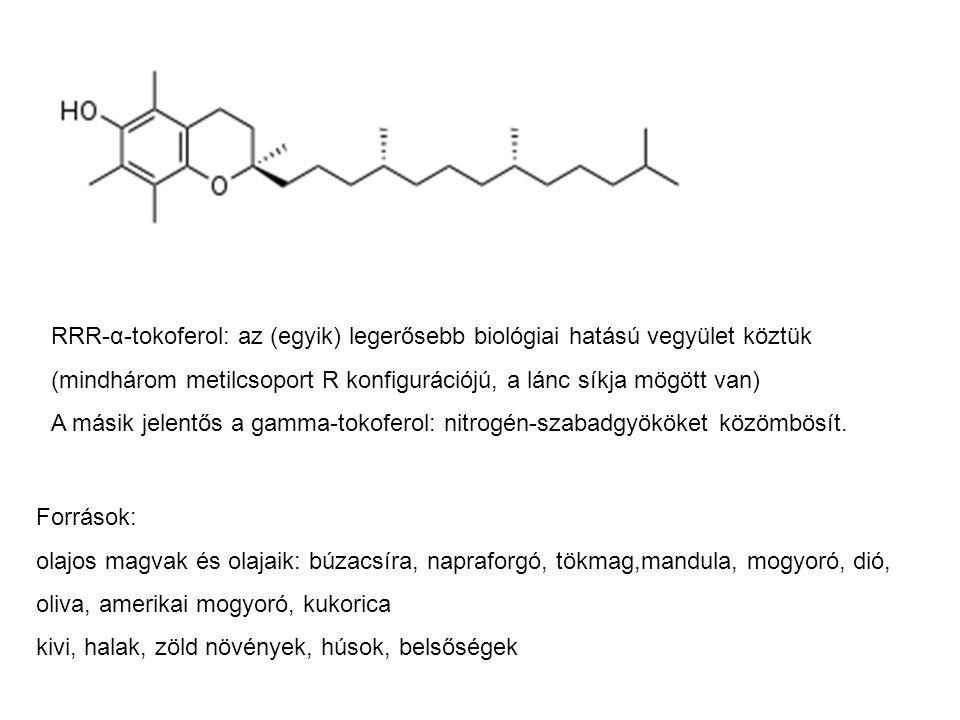 RRR-α-tokoferol: az (egyik) legerősebb biológiai hatású vegyület köztük