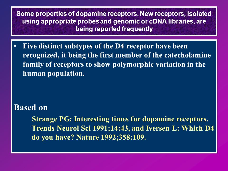 Some properties of dopamine receptors