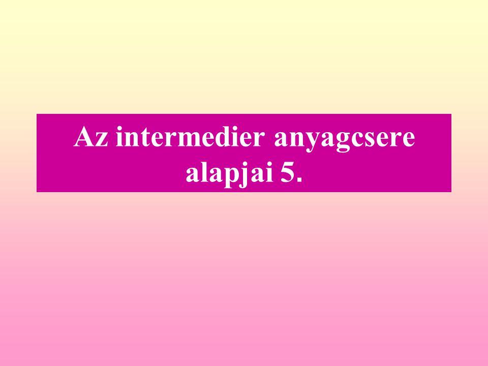 Az intermedier anyagcsere alapjai 5.