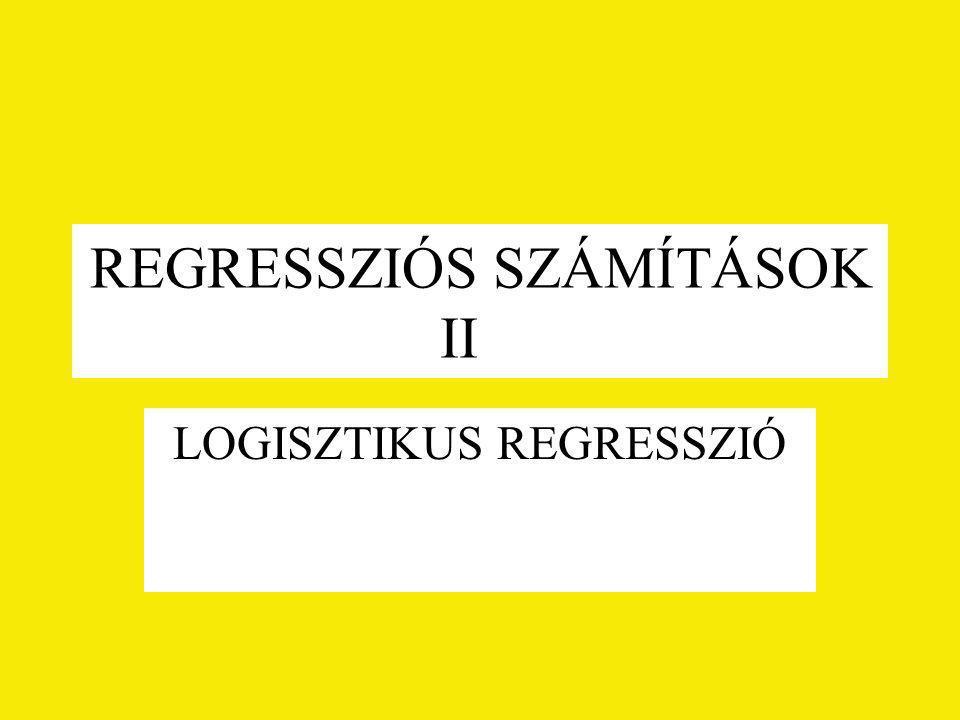 REGRESSZIÓS SZÁMÍTÁSOK II