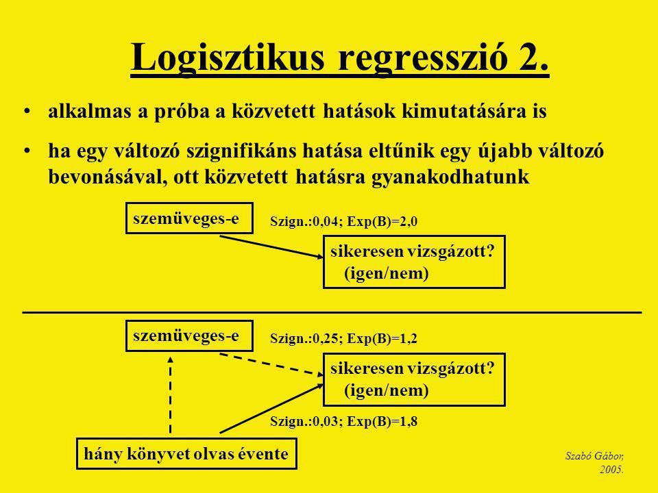 Logisztikus regresszió 2.
