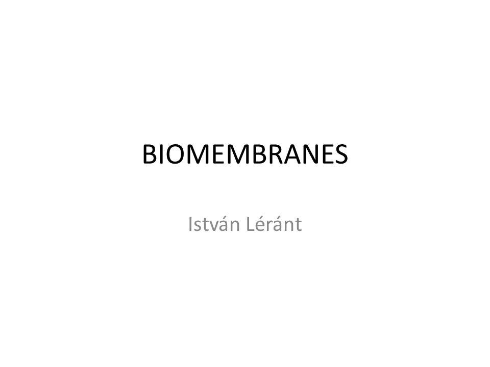 BIOMEMBRANES István Léránt
