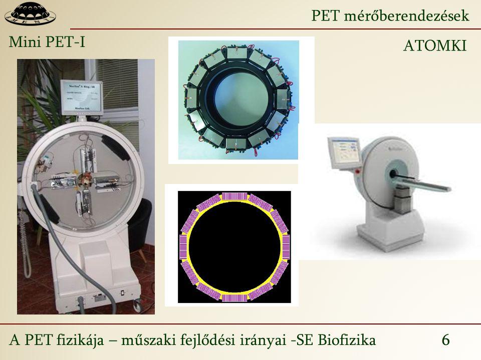 PET mérőberendezések Mini PET-I ATOMKI