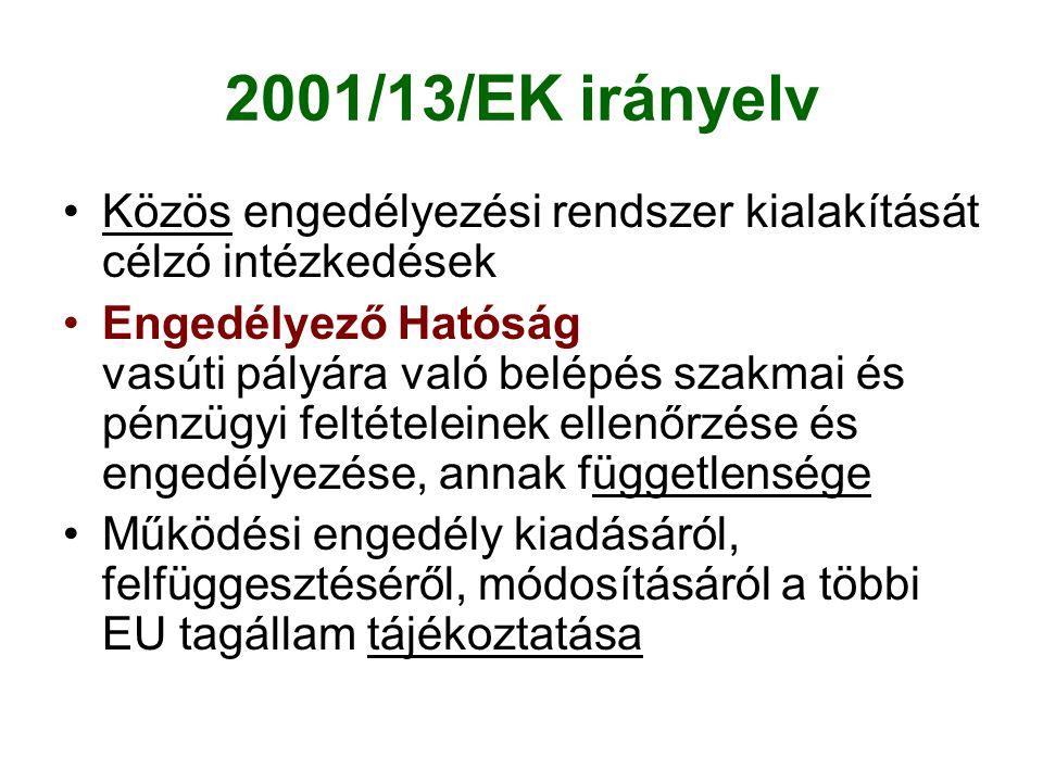 2001/13/EK irányelv Közös engedélyezési rendszer kialakítását célzó intézkedések.
