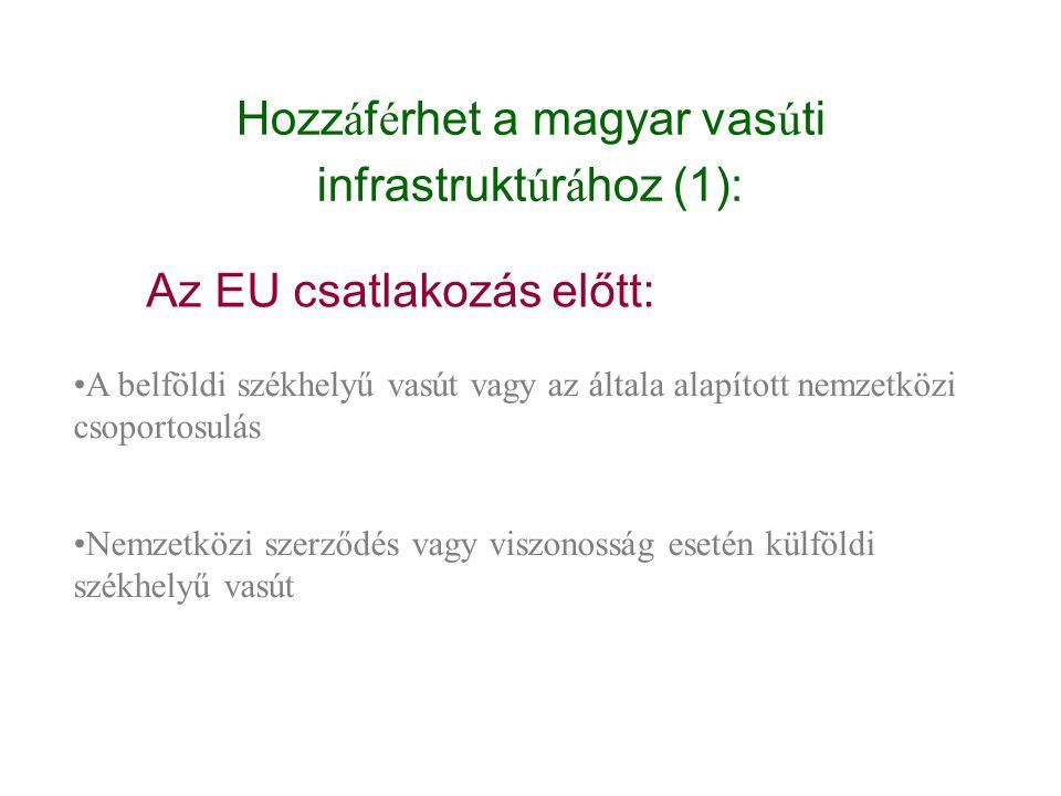 Hozzáférhet a magyar vasúti infrastruktúrához (1):