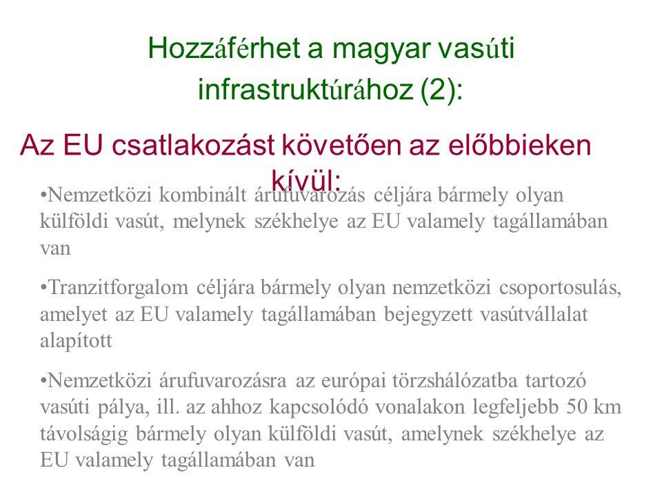 Hozzáférhet a magyar vasúti infrastruktúrához (2):