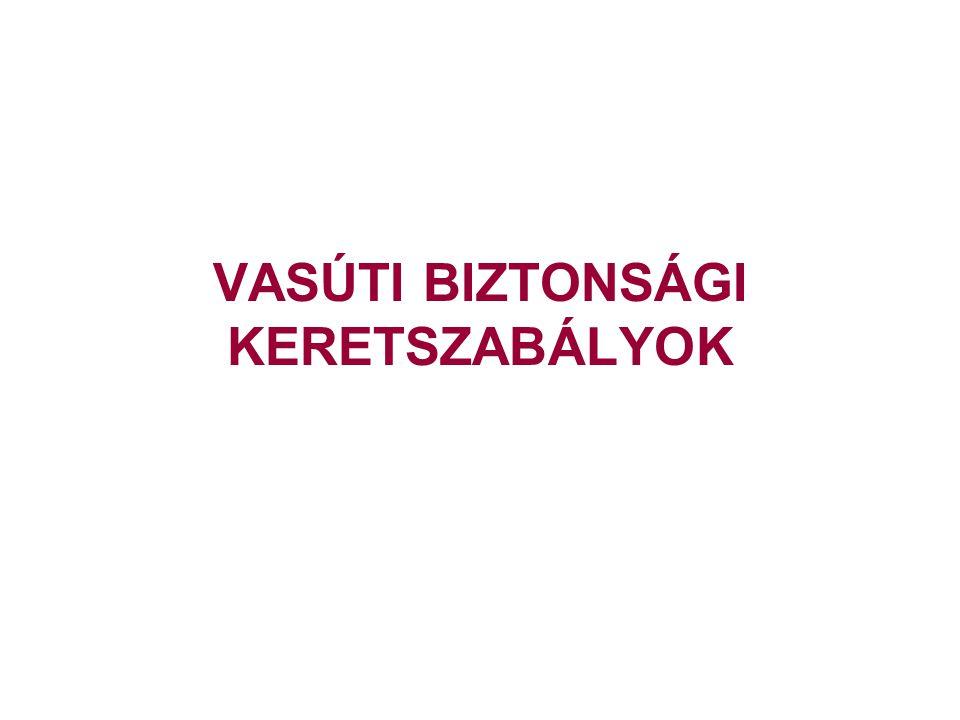 VASÚTI BIZTONSÁGI KERETSZABÁLYOK