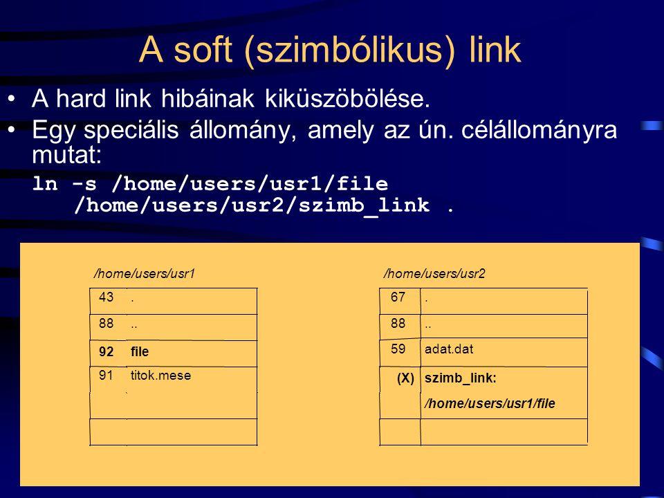 A soft (szimbólikus) link
